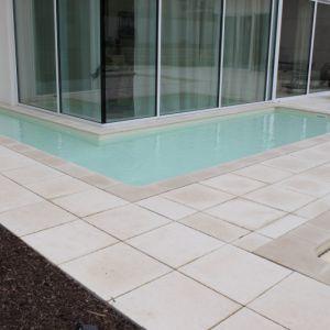Schwimmbäder Darmstadt neubau pool und sichtbecken in sandfarbener folie in darmstadt pro