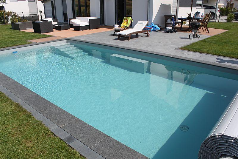 Neubau folienbecken gr e 8 x 4 x 1 5 m pro pool for Poolsanierung mit folie